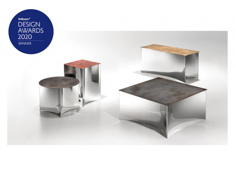 Alchemy small tables, design by STORMO for De Castelli wins Wallpaper Design Award 2020